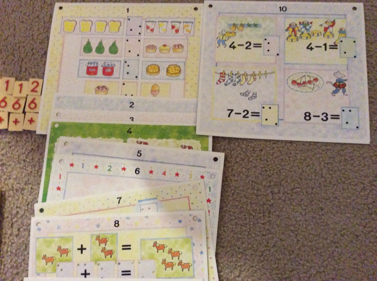 Fun With Sums Special Self-Corrective Number Tile Game Adding Subtracting Cards