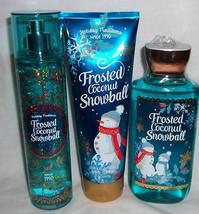 Frosted Coconut Snowball Body Cream Shower Gel  Fragrance Mist Bath Body... - $29.99
