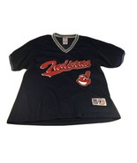 VTG 1998 Cleveland Indians Chief Wahoo Mesh V-Neck Jersey Shirt XL / L T... - $20.78
