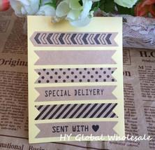 60PCS/ vintage stripe paper sticker Gift seal label - $5.99