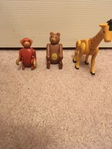 Lot/3 Vintage Fisher Price little people circus animals-giraffe/monkey/bear - $13.80