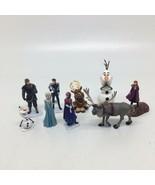 "9 Disney Frozen Elsa Olaf Anna Sven Kristoff Figures and Cake Toppers 2""... - $15.88"