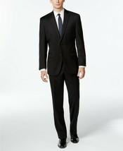 NEW MENS CALVIN KLEIN SLIM BLACK WOOL STRETCH MODERN FIT 2 PC SUIT 44 SH... - $168.29