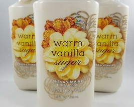 (3) Bath & Body Works Warm Vanilla Sugar Shea & Vitamin E Body Lotion 8oz - $26.11