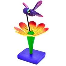 Handmade Carved Painted Alebrijes Oaxacan Wood Hummingbird & Flower Figurine image 2