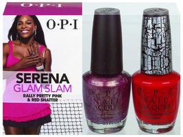 Opi Nail Polish Serena Glam Slam Collection Rally Pretty Pink & Red Shat... - $9.70