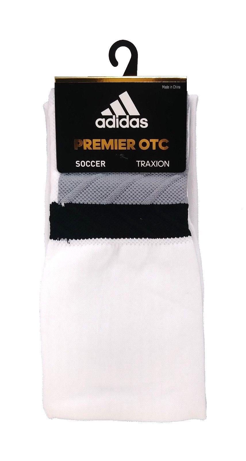 ADIDAS Climalite Traxion Premier OTC Socks sz S Small (13C-4Y) White - $19.99