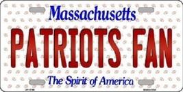 NFL New England Patriots Fan Novelty Metal License Plate State Backgrou... - $12.82