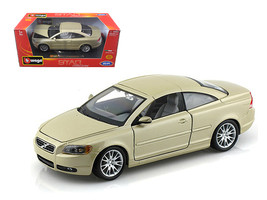 Volvo C70 Coupe Gold 1/24 Diecast Model Car by Bburago - $34.30