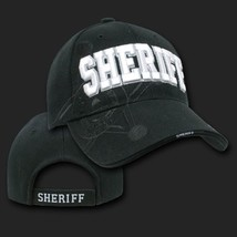 Sheriff Police Shadow Black Embroidered 3D Hat Cap - $31.58