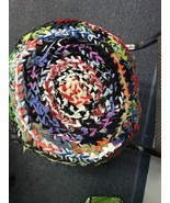 """Rag Rug Chair Pad Rocker 17"""" New Made In USA  Multi Color - $36.65"""