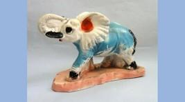 1930s antique CHALKWARE ELEPHANT carnival prize,glitter,political - $67.95