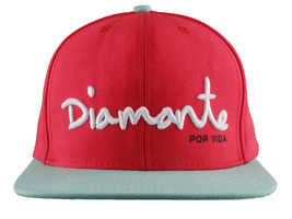 Diamond Supply Co. Rojo Azul Blanco Diamante Por Vida Snapback Gorra Béisbol Nwt