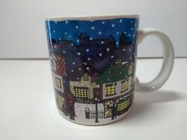 Vtg.1989 Christmas Village Scene Horse And Carriage Dayton Hudson Coffee... - $11.87
