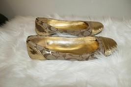Coach Gold Cap Logo Sequins Ballet Flats Women's US 7.5 M UK 5.5 $295 - $88.88