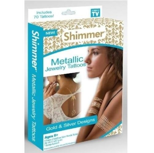 Shimmer Metallic Jewelry Tattoos As Seen On TV [New]