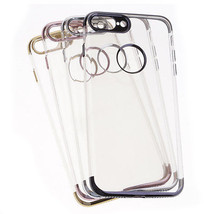 Soft TPU Shockproof Plating Transparent Phone Case Cover Skin For iPhone... - $58,82 MXN