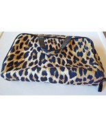 Basics Leopard Travel  Bag Makeup Faux Suede Toiletry Wash Organizer - $3.96