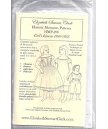 Elizabeth Stewart Clark pattern for girls' linens 1840-1865 - $19.80