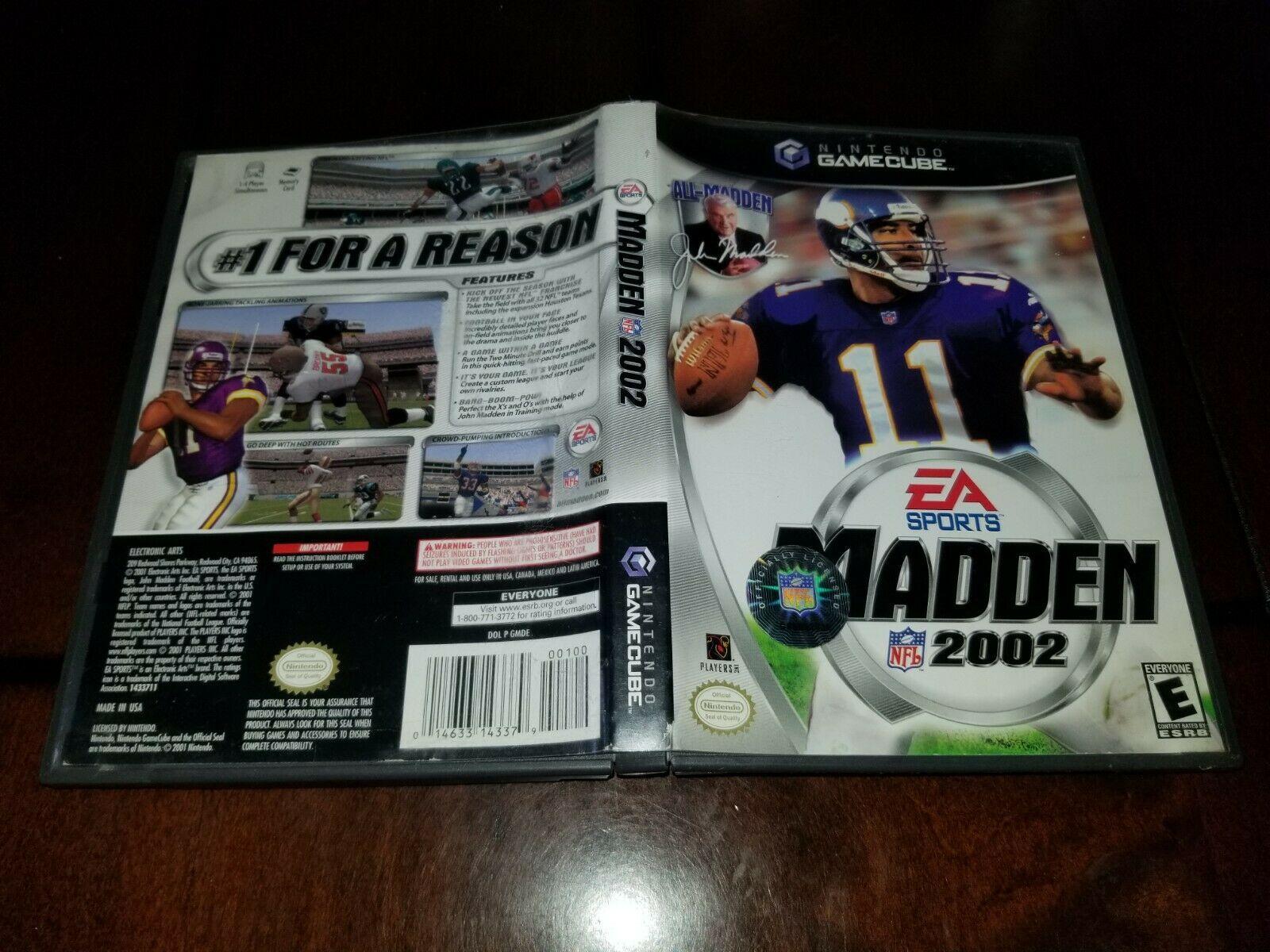 Madden NFL 2002 Nintendo GameCube VGEX **Inv02947**