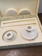 LENOX Great Giftables Taper Candle Holders Candles Candlesticks Ceramic ... - $17.33