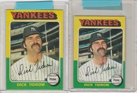 1975 Topps Mini and Regular Yankees Dick Tidrow #241 - $2.55