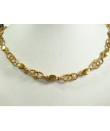 Vintage Crown TRIFARI Gold Plated Choker Necklace Rope Link Chain Shiny ... - $22.76