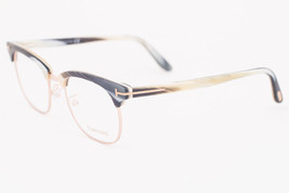 Tom Ford 5342 060 Beige Horn Gold Round Eyeglasses TF5342 060 49mm - $126.42
