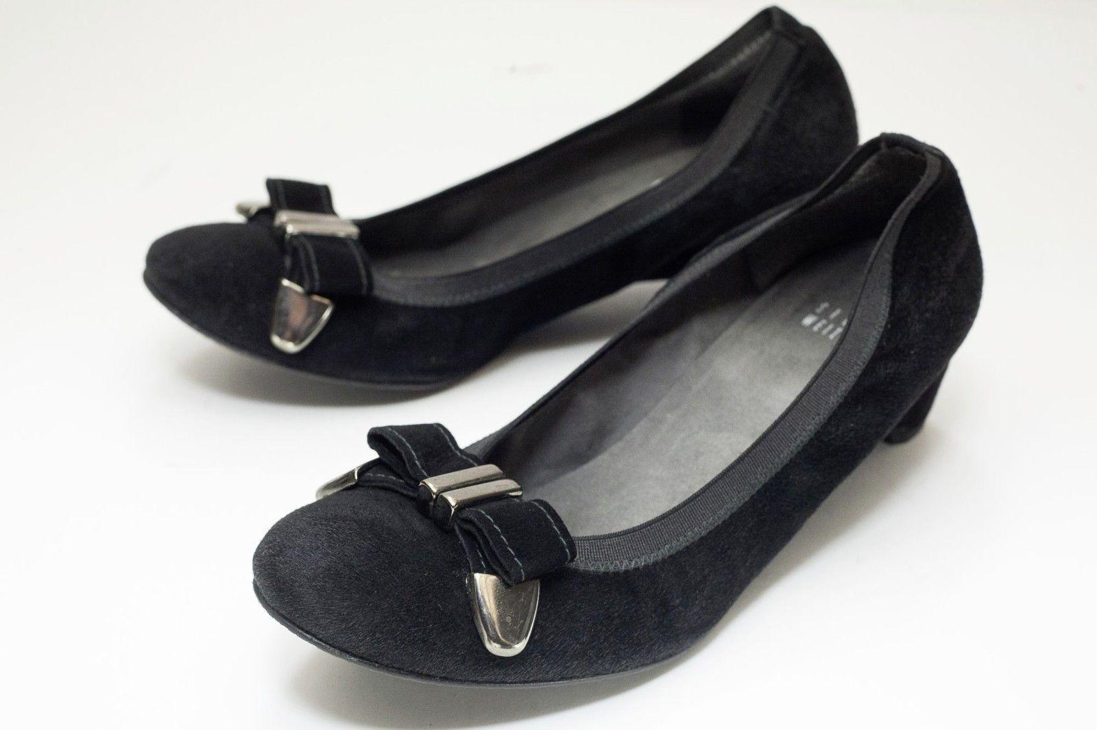 Stuart Weitzman 7 Black Ballet Slip On Shoes Women's - $56.00
