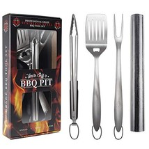 "Heavy Duty BBQ Grilling Tools Set - Professional Grade 18"" Long Stainles... - $30.80"