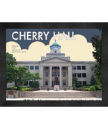 "Western Kentucky University ""Cherry Hall"" 13 x 16 Art Deco Framed Print  - $39.95"