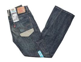 Levis 514 Boys Slim Fit Straight Leg Zipper Fly Blue Denim Jeans Junior NWT - $19.97