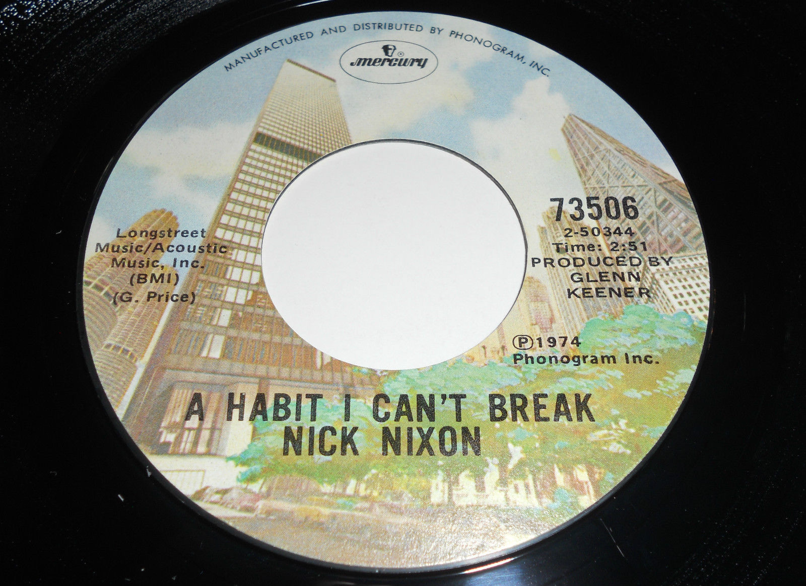 Primary image for NICK NIXON VG A Habit I Can't Break 45 Walk On By Mercury 73506 7""