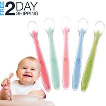 Baby Training Spoons 5Pcs Self-Feeding Infant Utensil Set Flexible Soft-... - $12.86