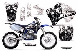 Dirt Bike Graphic Kit Decal Sticker Wrap For Yamaha YZ125 YZ250 96-01 REAPER WHT - $169.95
