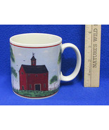 1998 Coffee Mug Cup Design by Warren Kimble Barns Tall Red Painting Farm... - $10.34