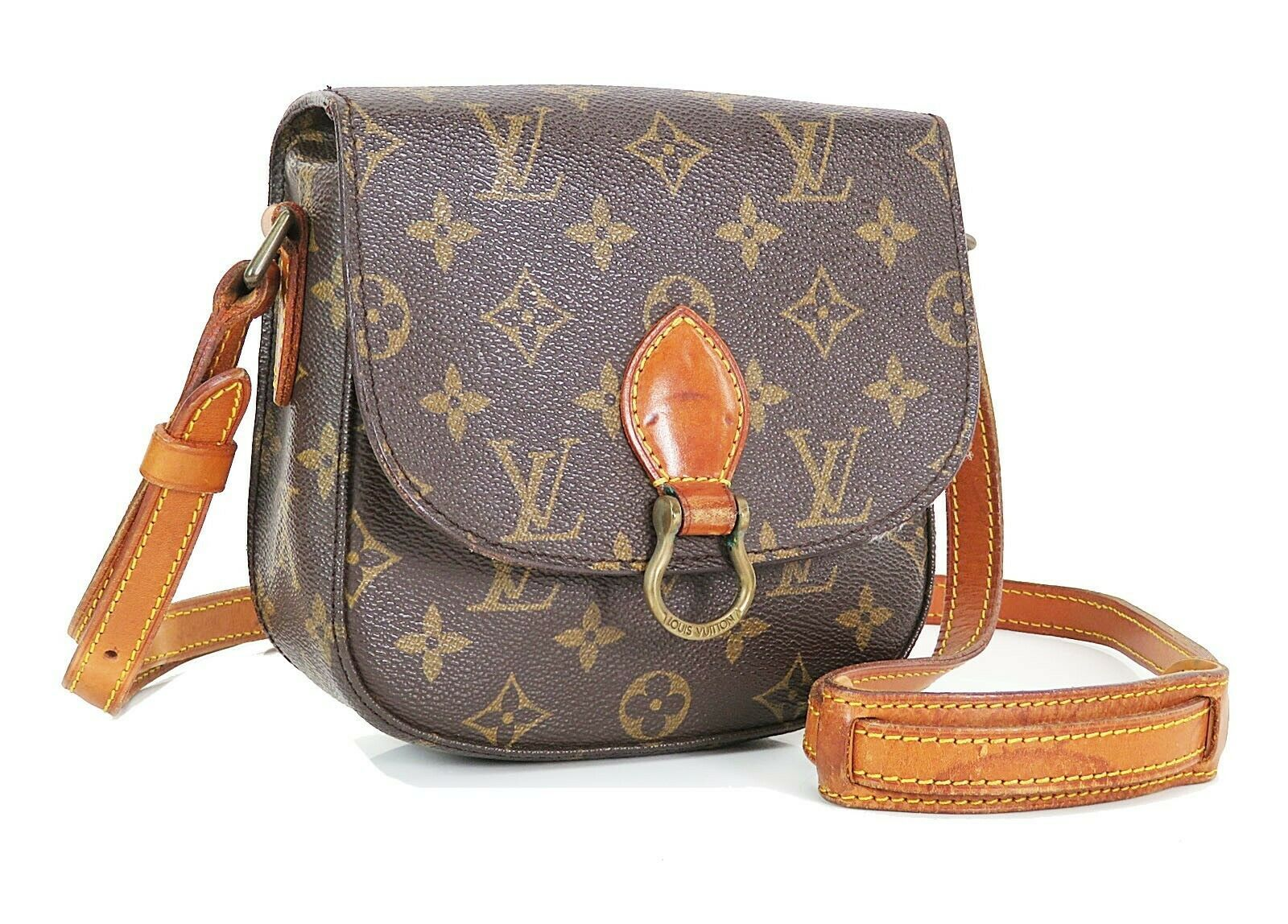 Authentic LOUIS VUITTON Saint Cloud PM Monogram Shoulder Bag #35015 image 2