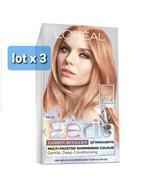 Loreal Feria Fashion Metallics Permanent Color #822 MEDIUM IRIDES BLONDE... - $54.45