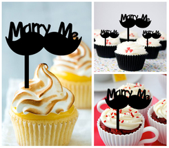 Decorations Wedding,Birthday Cupcake topper,marry me - yes i do Package : 10 pcs - $10.00