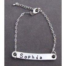 Dainty Bar Bracelet,Personalized Name Bar Bracelet,Boyfriend/Girlfriend ... - $17.80