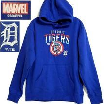 Fanatics MLB DETROIT TIGERS Marvel CAPTAIN AMERICA Sweatshirt Hoodie (Me... - $16.34