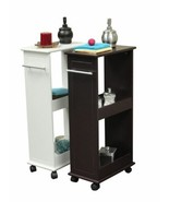NEW Space Saver Rolling Side Cabinet Bath Storage 2 Shelf Roll Holder So... - $73.90