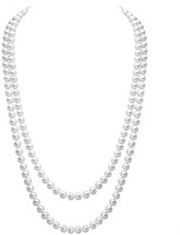 Merdia Elegant Women Lady Long White Created Pearl Sweater Necklace Bead... - $27.55