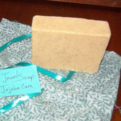 Jewel Soap - Jojoba Care, goat milk, olive oil, unscented, very moisturizing