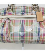 Coach madras plaid rocker handbag  15.50 and 10.15 ship 5 thumbtall