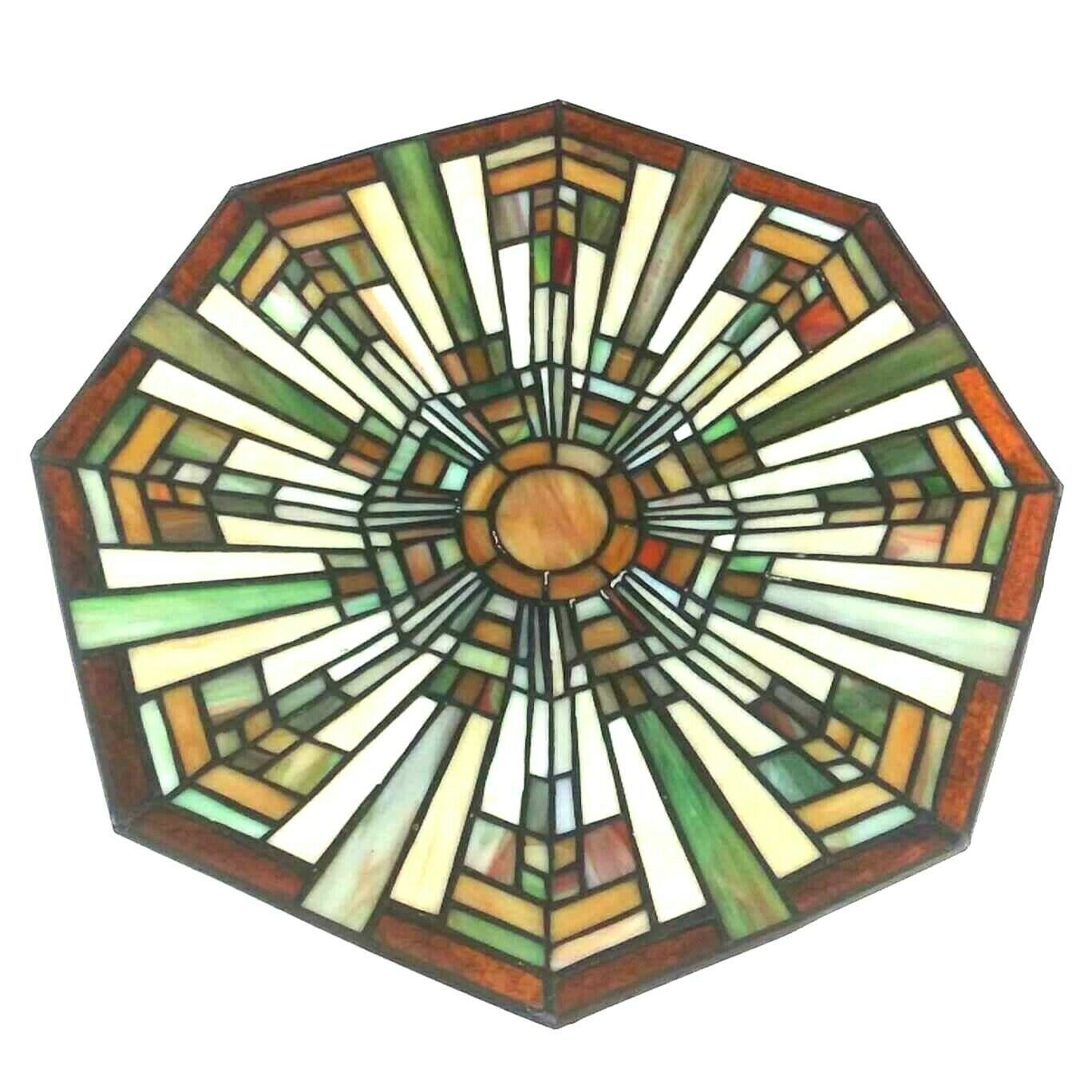 Quoizel Flush Mount Floating Stained Glass Craftsman Mission Style Light Shade - $51.96