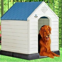 Waterproof Dog Kennel Pet Outdoor Porch Winter Insulated House Cabin Big... - $98.90
