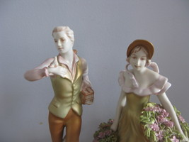 Vintage Royal DUX porcelain figurines Lady and Gentleman at Countryside ... - $249.99