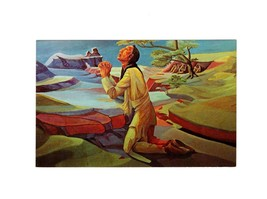 "PICTURE POSTCARD-""INDIAN CHRIST IN GETHSEMANE"" -WALTER RICHARD (DICK) WE... - $2.91"