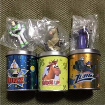 Toy Story Mini Charm in Tin Can three set Buzz Zurg Bullseye retro Japan... - $49.49